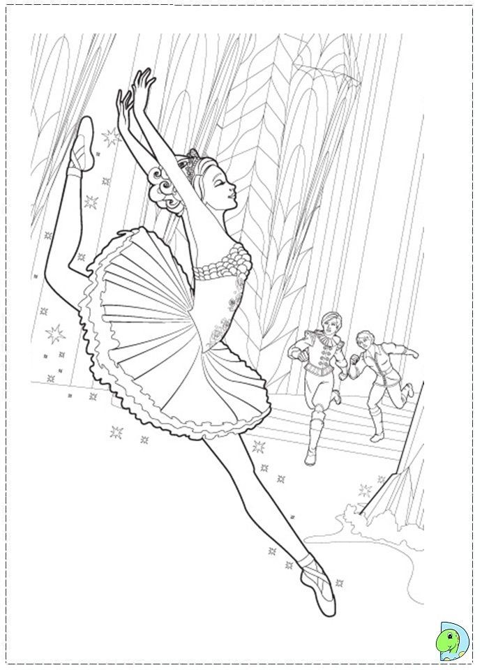Barbie Ballerina Coloring Pages - Coloring Home