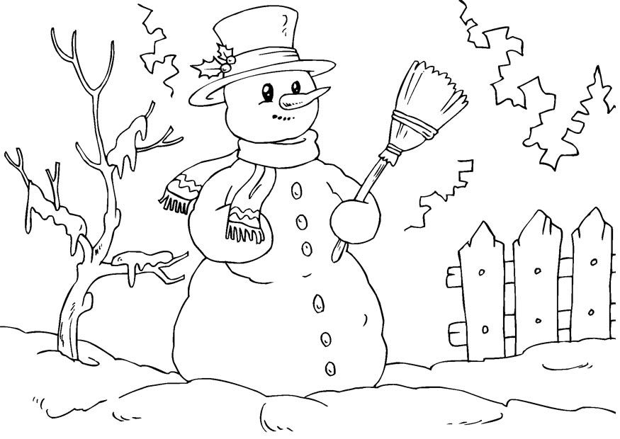 picture relating to Free Printable Snowman Coloring Pages identified as Totally free Printable Snowman Coloring Webpages For Young children - Coloring Dwelling