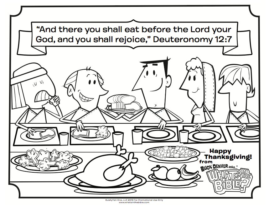Ten Best Thanksgiving Coloring Pages | Whats in the Bible