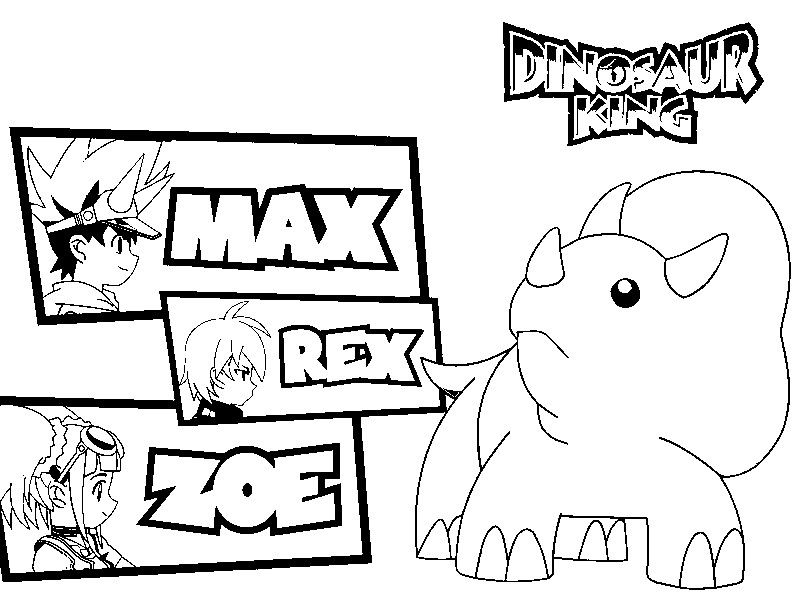 Dinosaur King Coloring Pages Coloring Home