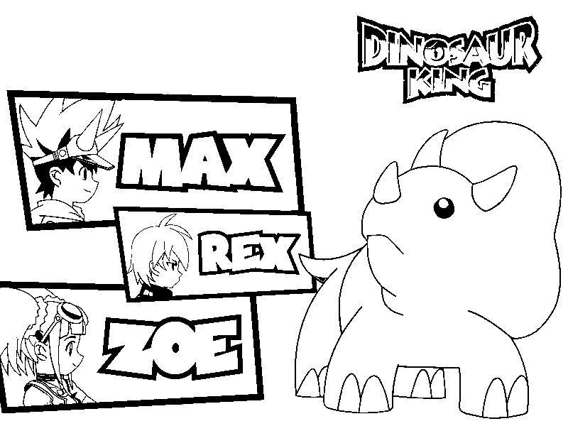 Coloring Page Dinosaur King 3