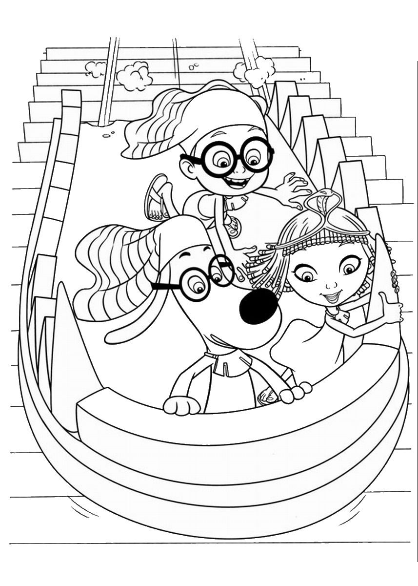 Mr Peabody And Sherman Coloring Pages - Coloring Home