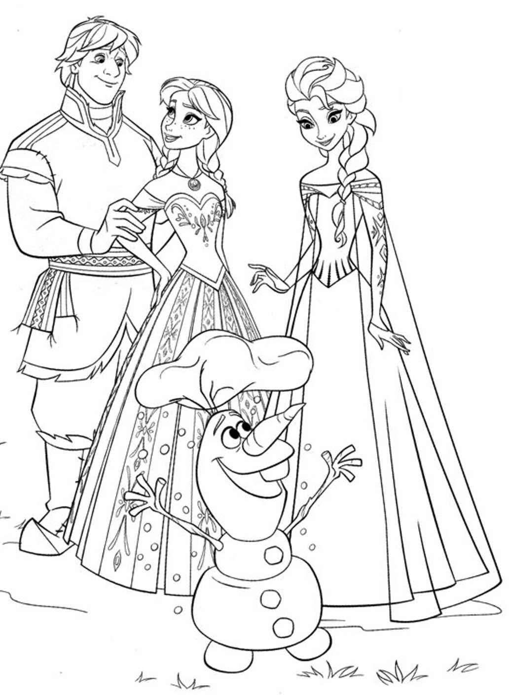 Frozen Anna And Elsa Coloring Pages Coloring Home