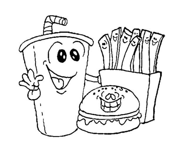 9 Pics Of Kawaii Burger Coloring Pages