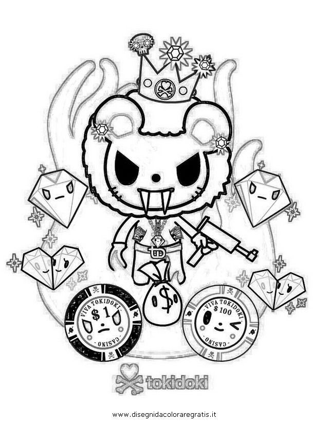 Tokidoki coloring pages, Tokidoki Coloring Pages - Printer Center