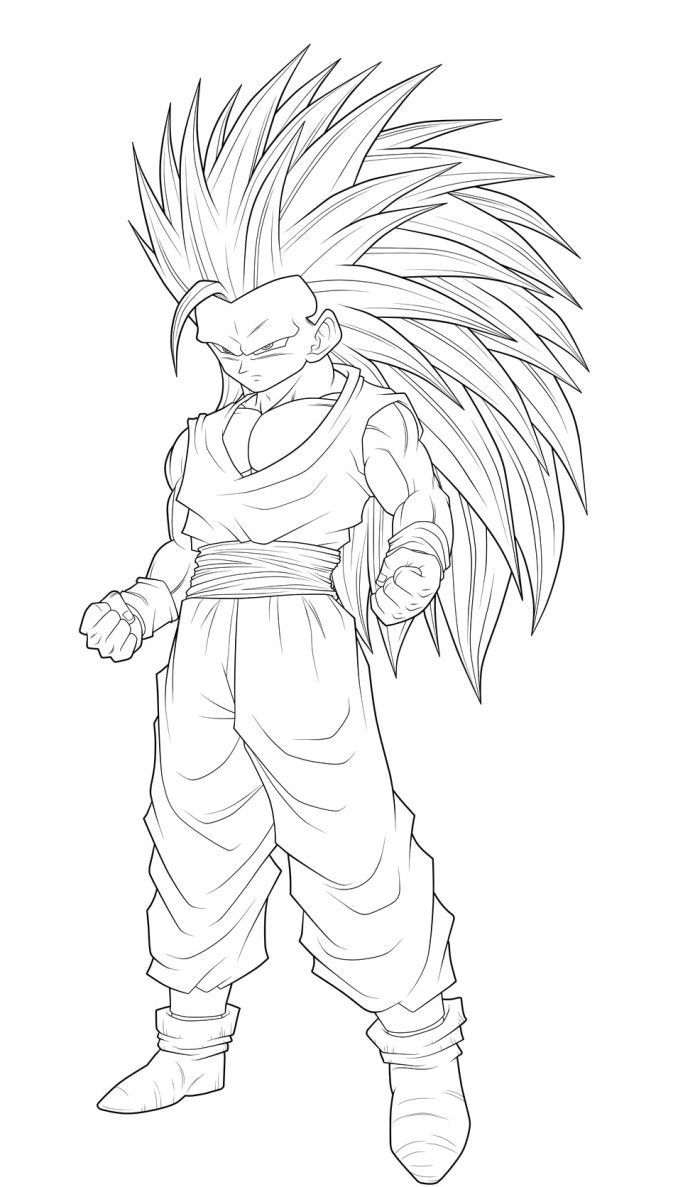 Dragon Ball Z Super Saiyan 5 Coloring Pages For Kids And For