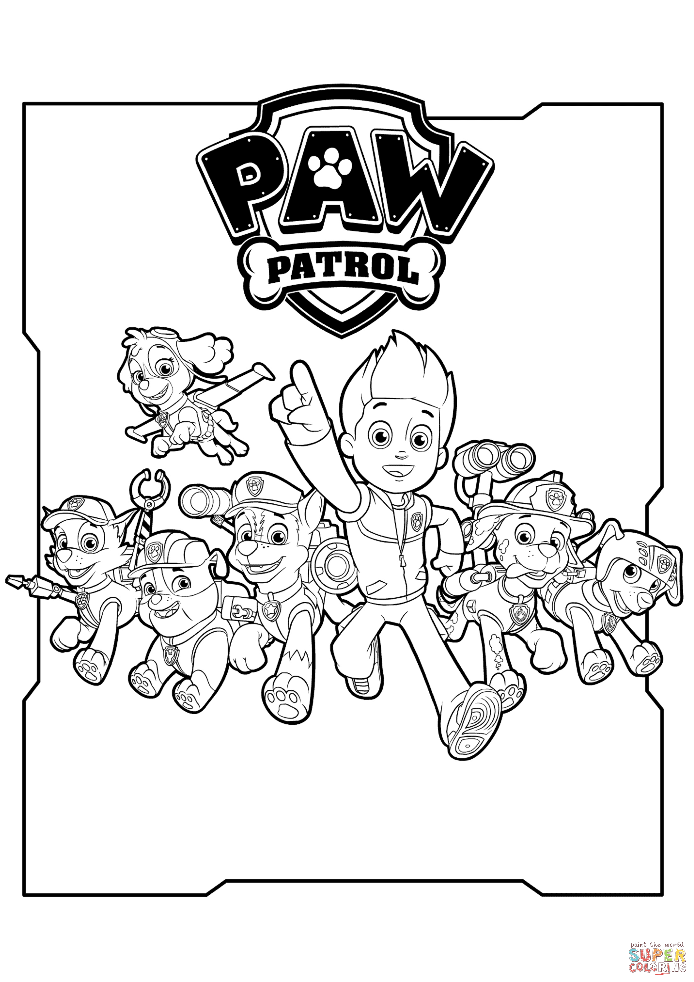 Printable Paw Patrol Coloring Pages - Coloring Home