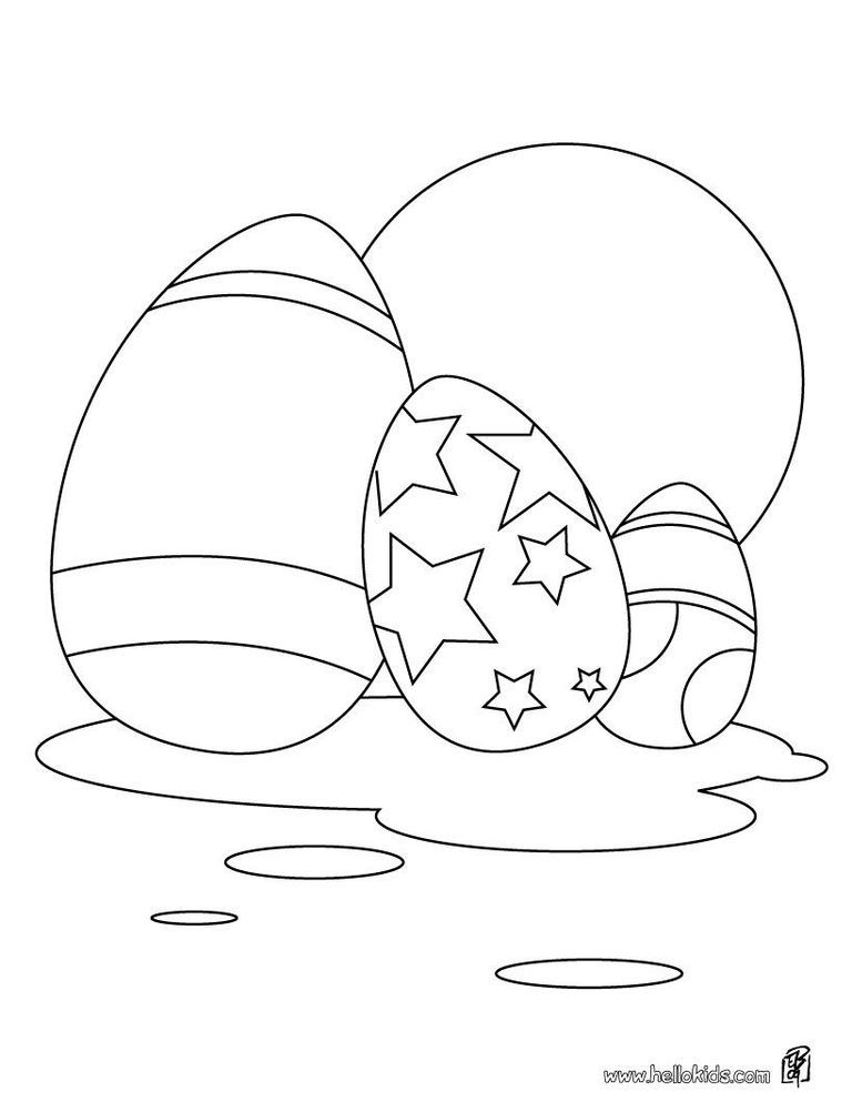 Russian Eggs Coloring Pages
