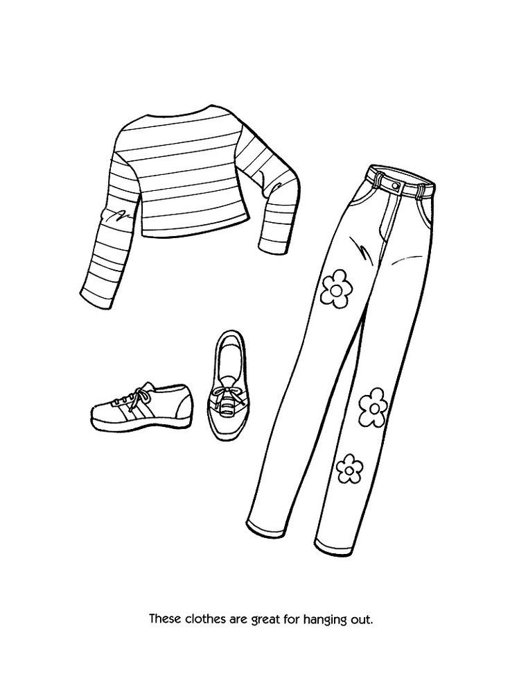 Printable coloring pages of fashion clothing coloring home for Clothing coloring page
