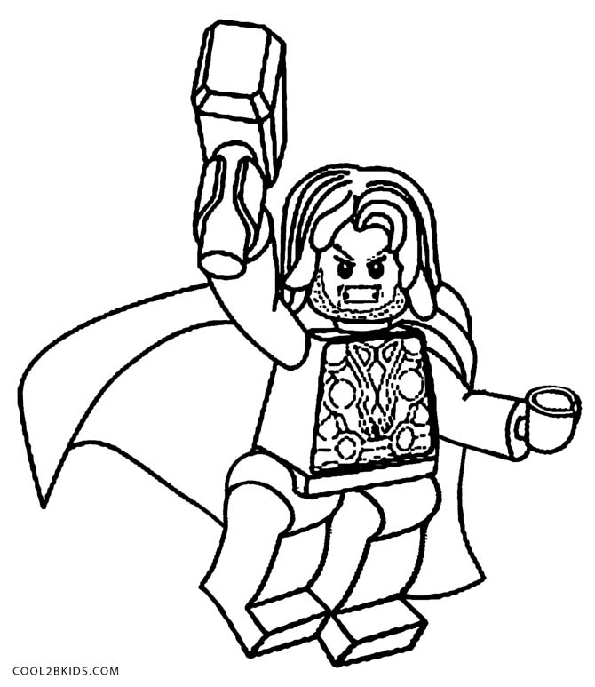 Coloring Pages Lego Avengers
