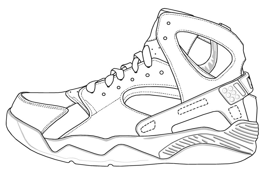 Jordan Shoes - Coloring Pages for Kids and for Adults