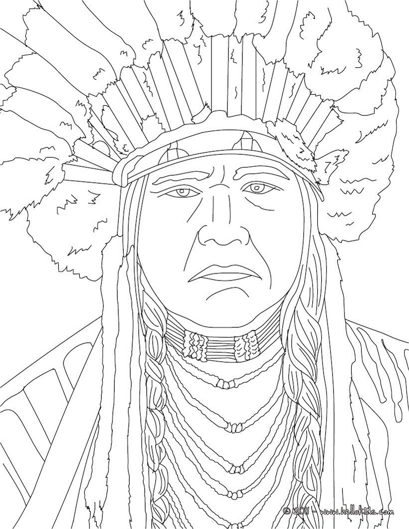 NATIVE AMERICANS coloring pages - POWHATAN
