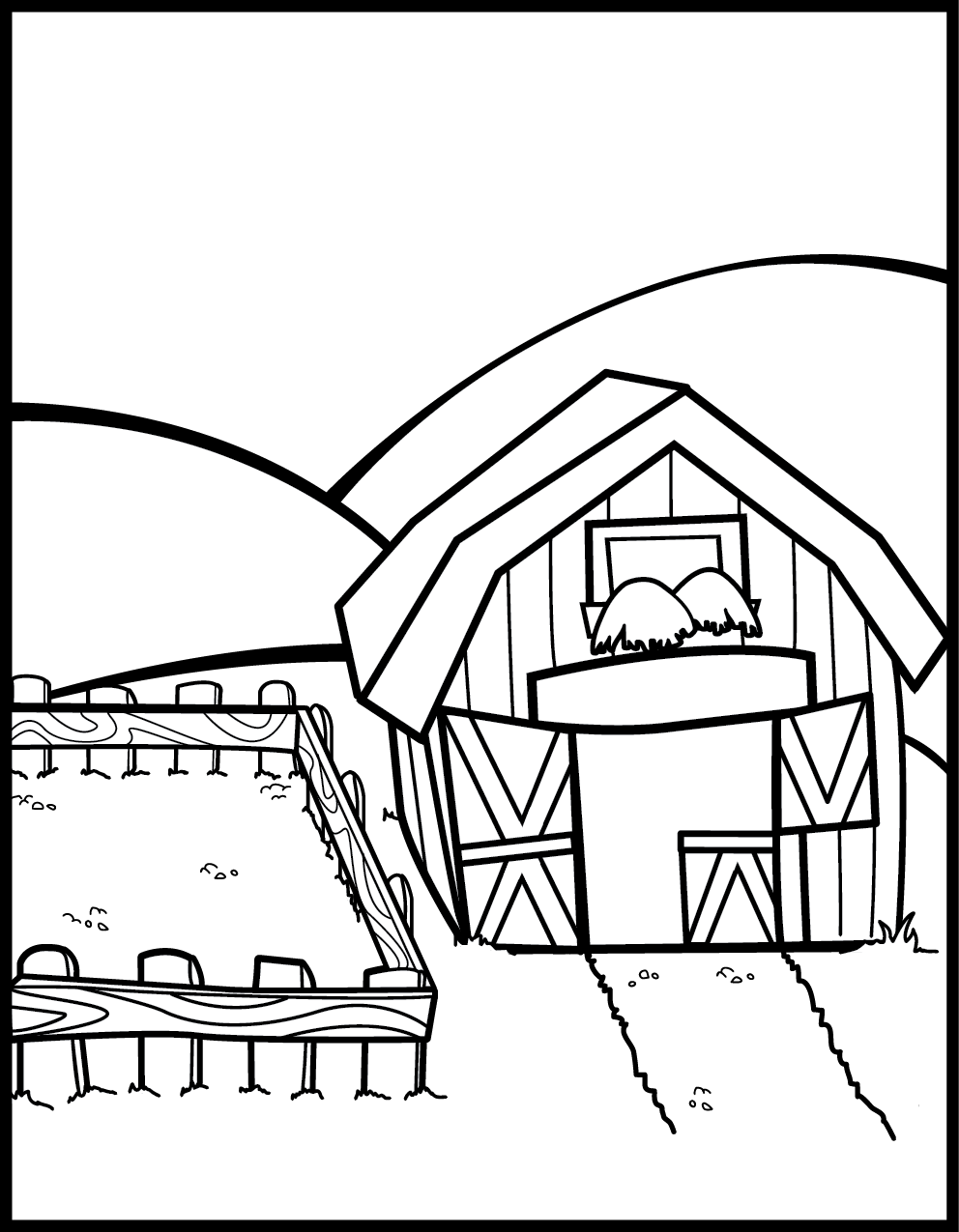 Farm Coloring Pages Preschool - Coloring Home