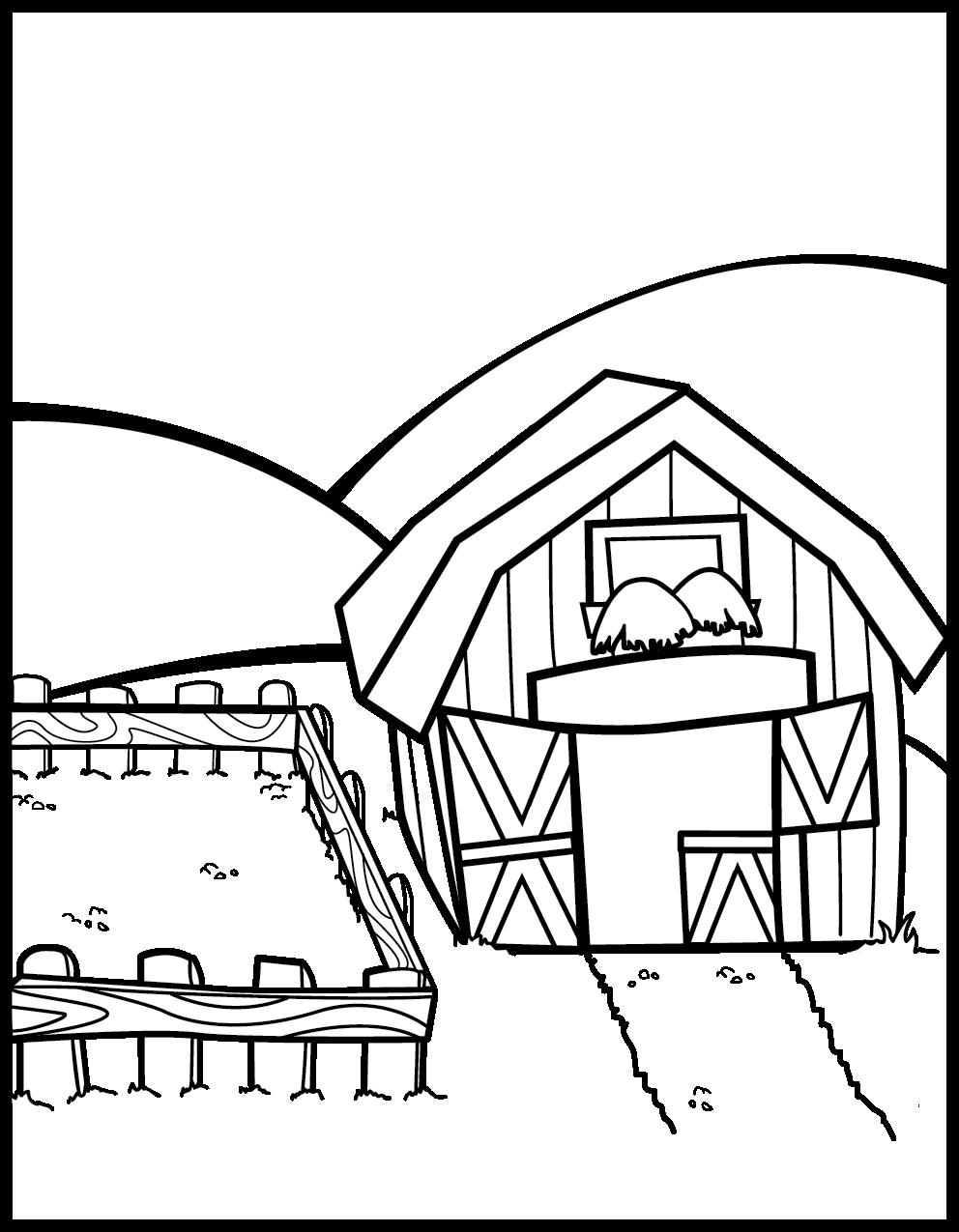 preschool coloring pages farm - photo#33
