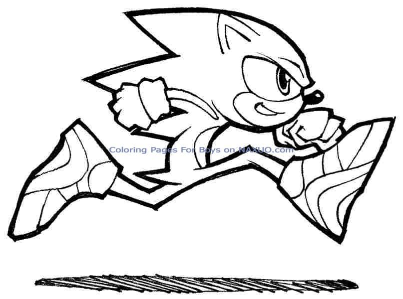 Sonic The Hedgehog Coloring Pages 17 Pictures