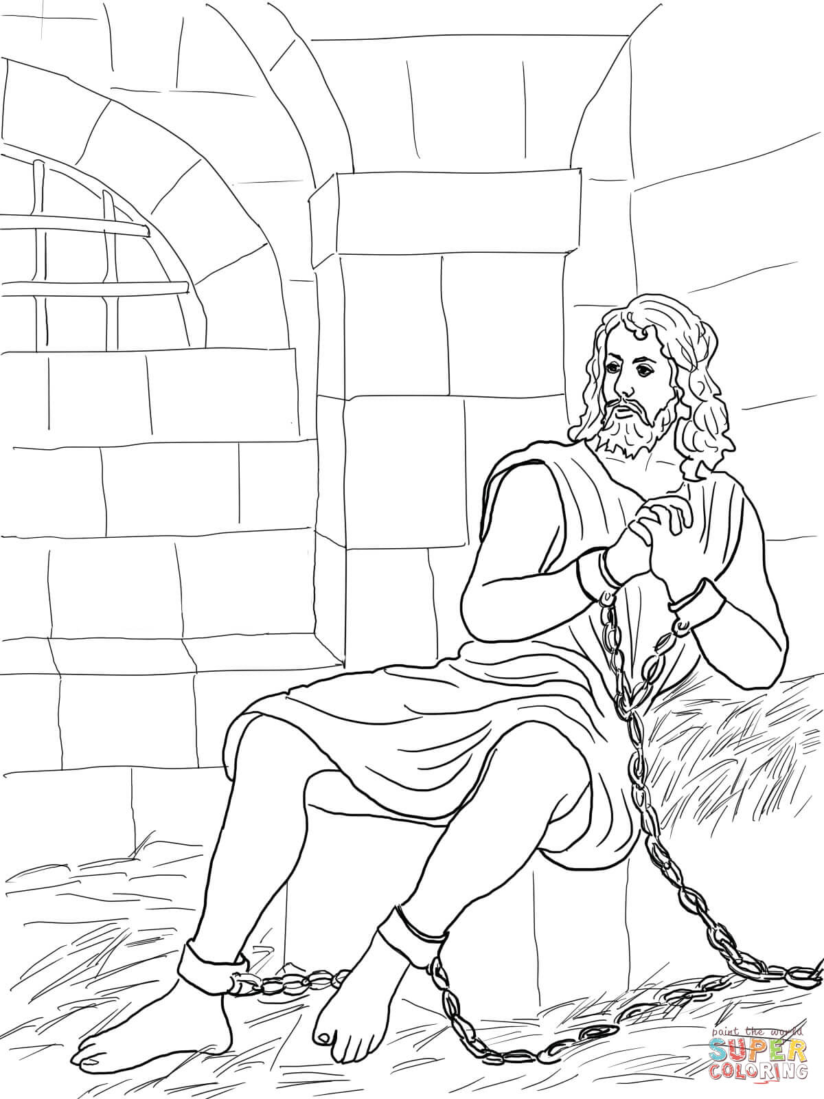 coloring pages joseph in jail - photo#29