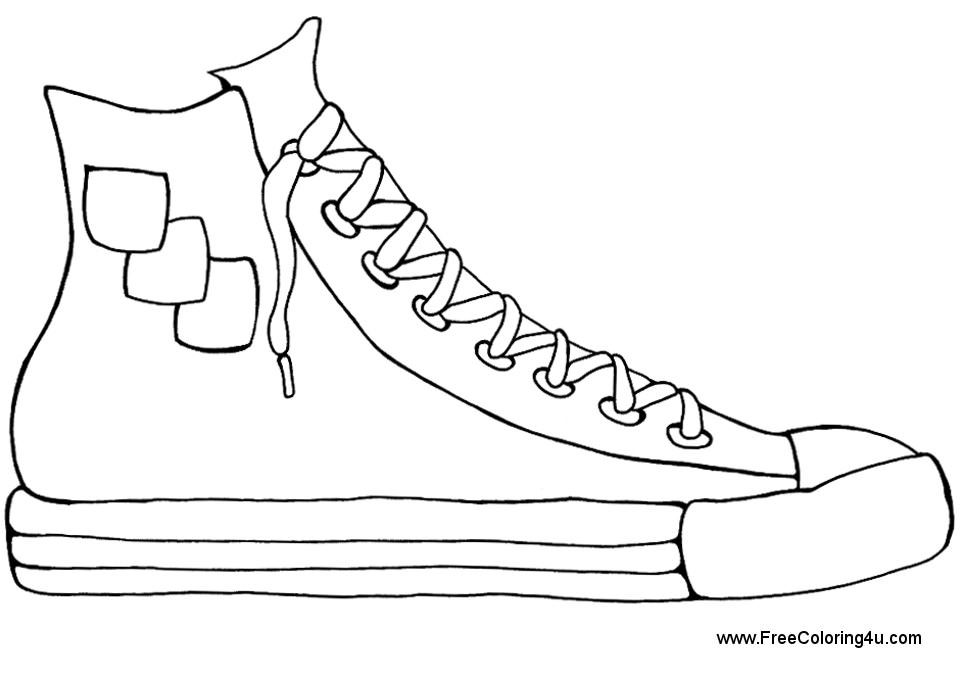Shoes Coloring Pages Print