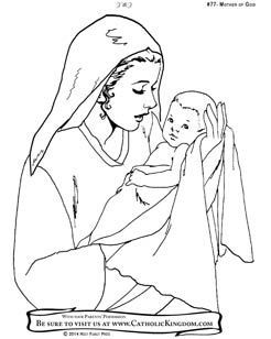Free Coloring Page Of Mary The