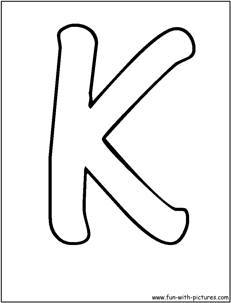 letter k coloring pages | Only Coloring Pages