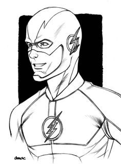 Flash Colouring In - Coloring Pages for Kids and for Adults