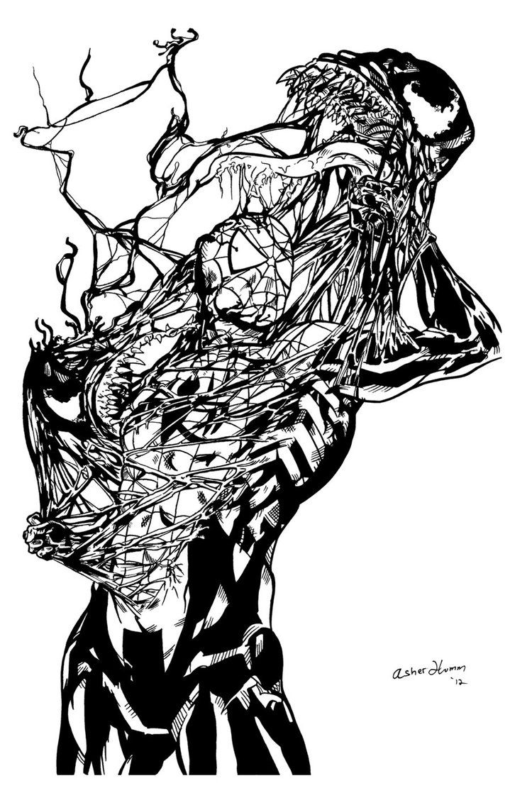spiderman and venom printable coloring pages   Spiderman And Venom Coloring Pages Free - Coloring Home