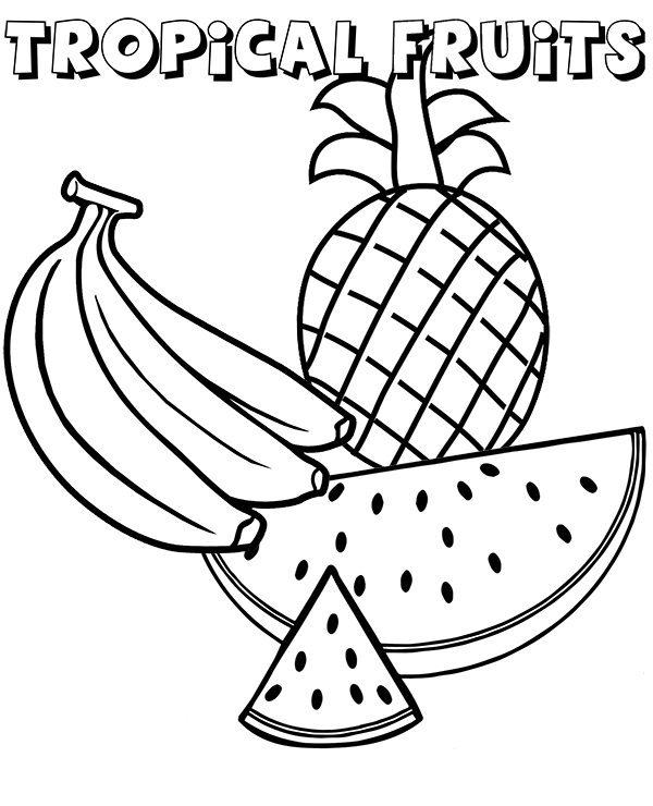 Pineapples Coloring Pages Coloring Home