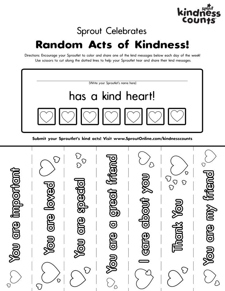 Print Coloring Pages About Kindness