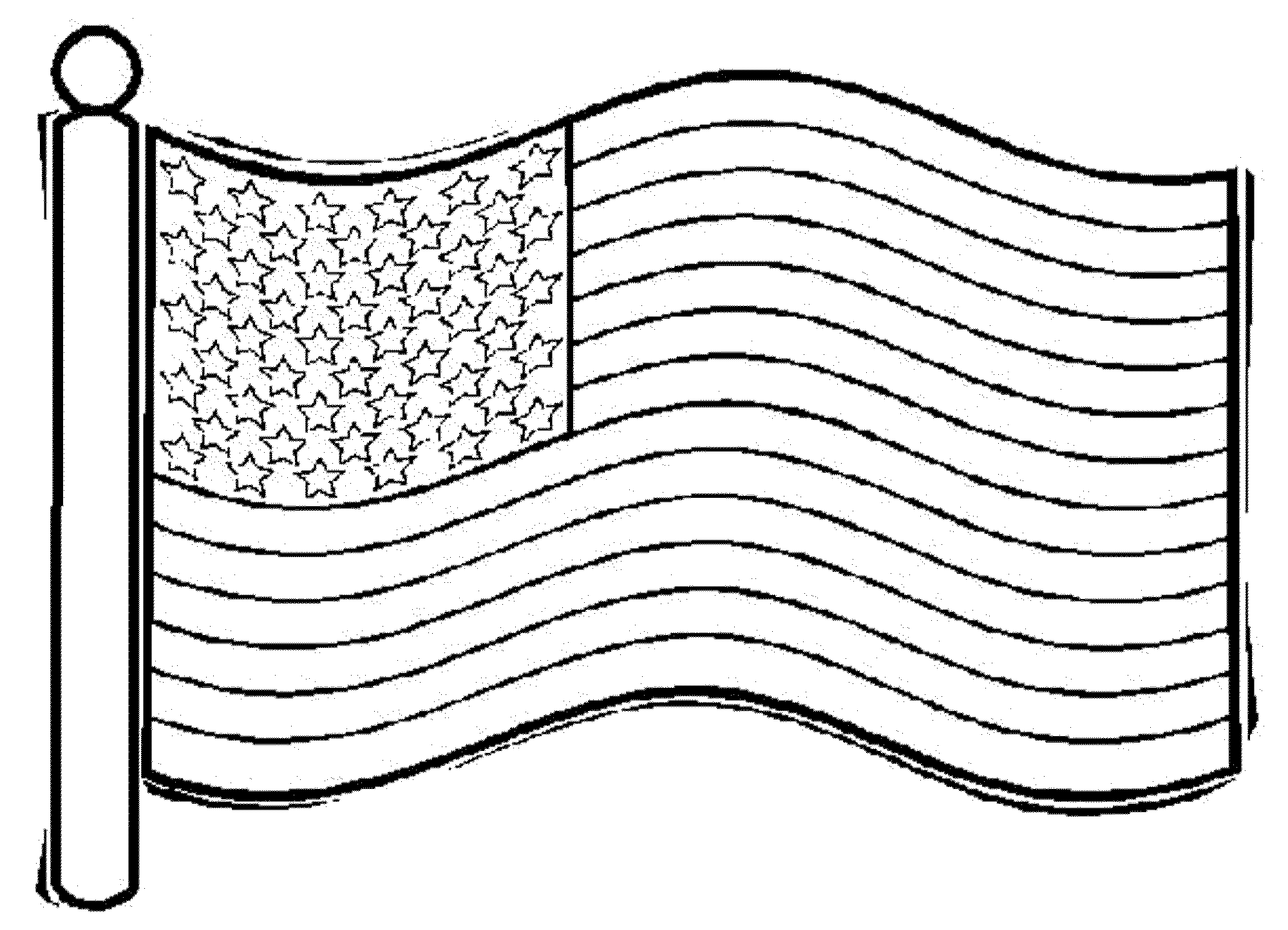 Coloring Page Of American Flag - Printable Kids Colouring Pages