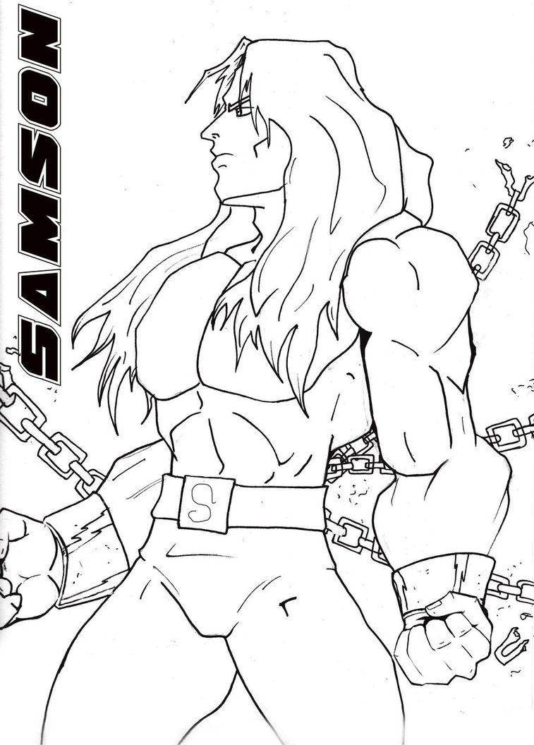 Coloring Pages Of Samson - Coloring Home