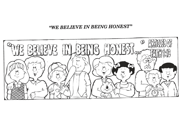 Honesty Coloring Page Coloring Home Honesty Coloring Pages