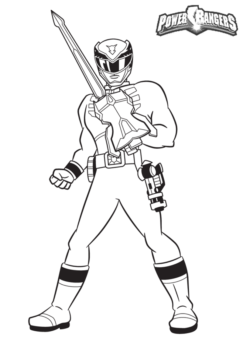 coloring pages power rangers dino thunder high quality coloring
