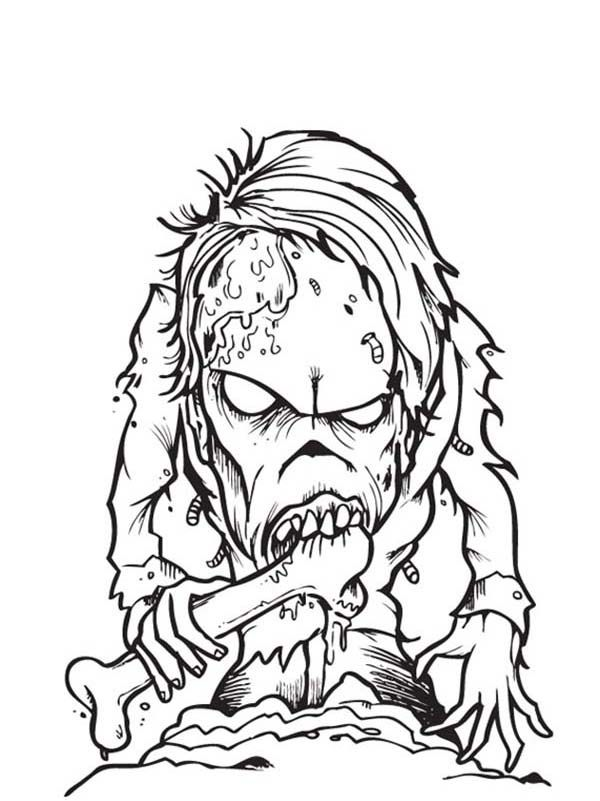 Free Printable Zombie Coloring