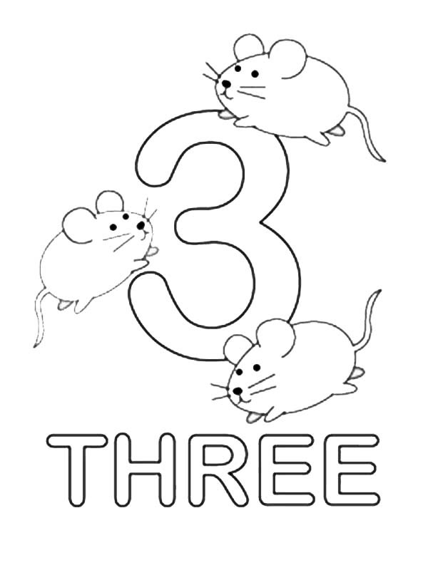 Number 3 Coloring Page Coloring Home 3 Colouring Pages