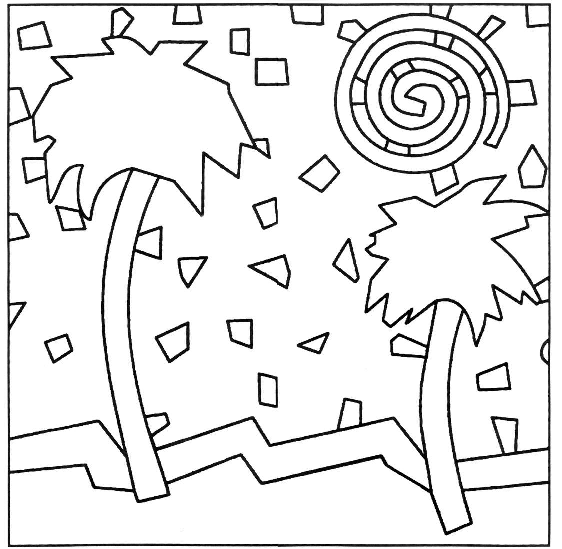 Animal Mosaic Colouring Pages : Mosaic coloring pages of animals home