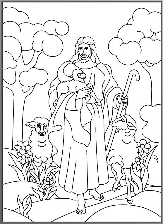 The lord is my shepherd coloring page coloring home for The lord is my shepherd coloring page