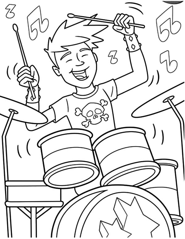 Rock and roll coloring pages free ~ Rock And Roll Pages Printable Coloring Pages