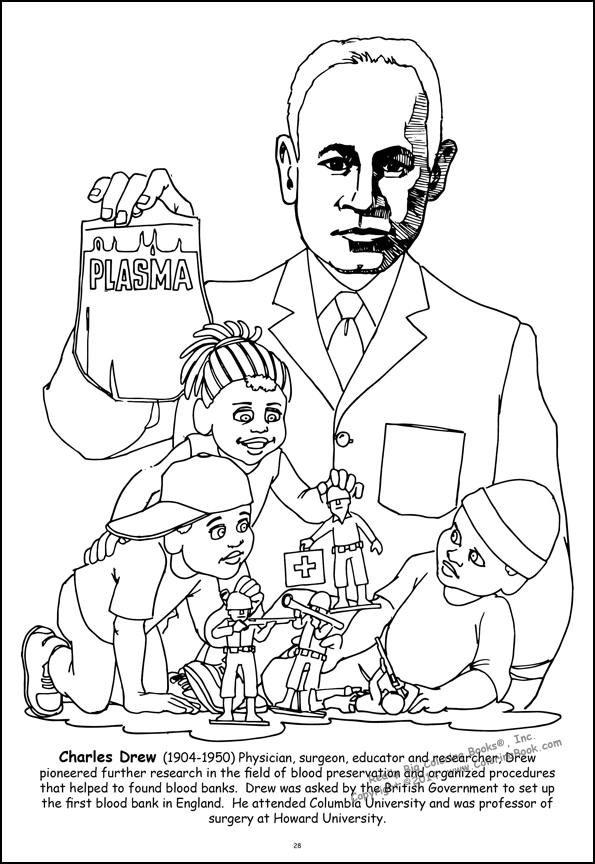 drew famous african americans coloring pages az coloring pages