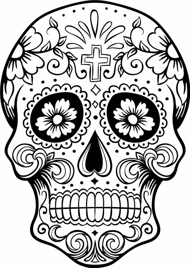 sugar candy skulls coloring pages - photo#2