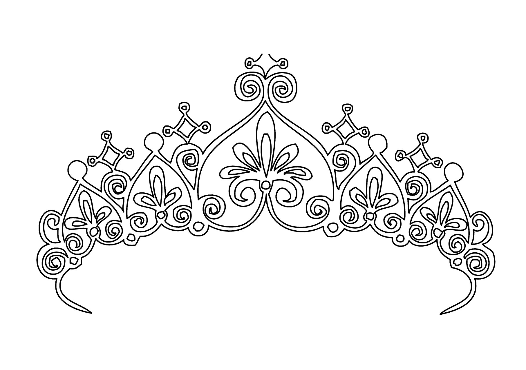 Princess Tiara Coloring Pages Tiara Coloring Page