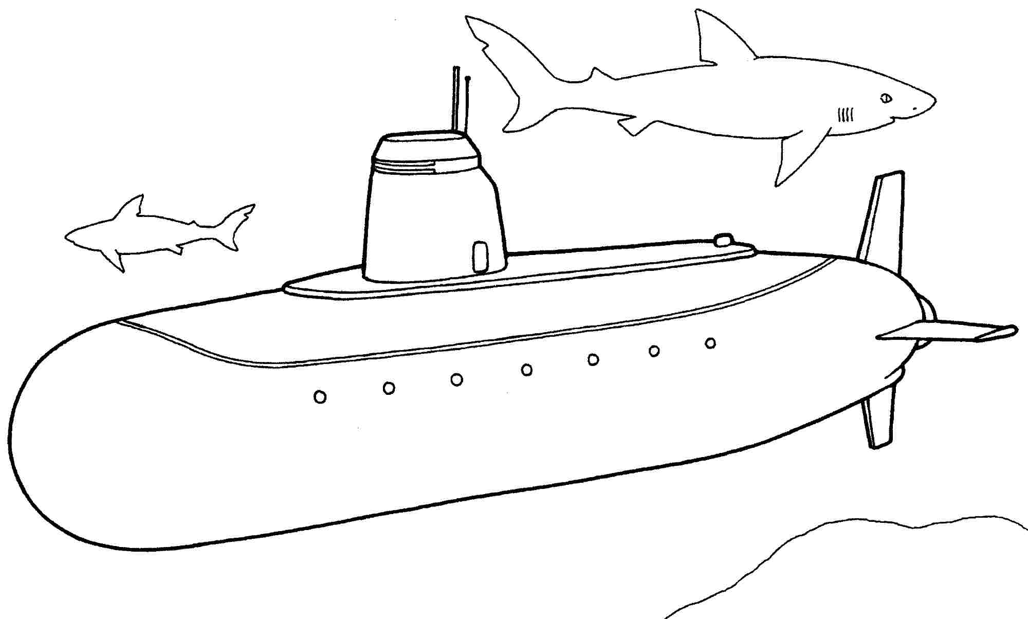 submarine coloring pages to download and print for free - Submarine Coloring Pages Print