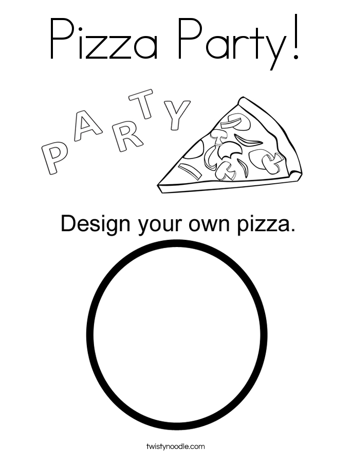 Pizza Coloring Pages - Twisty Noodle