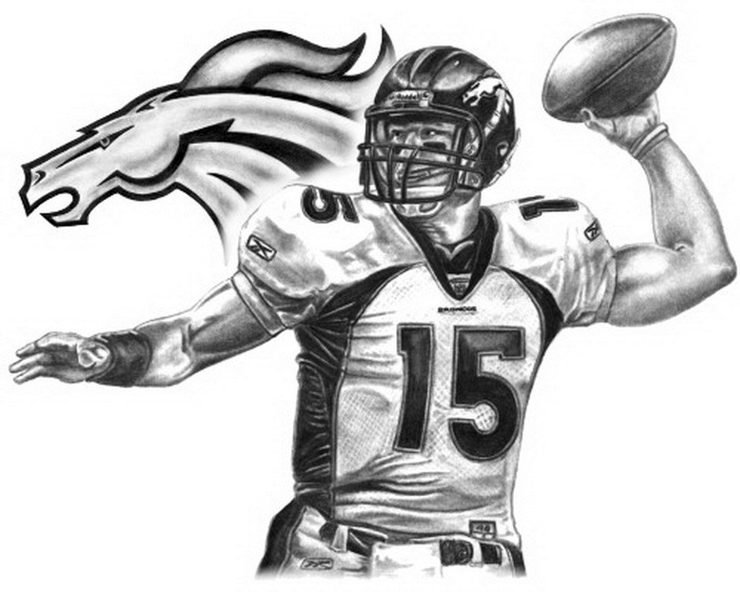 broncos printable coloring pages coloring home