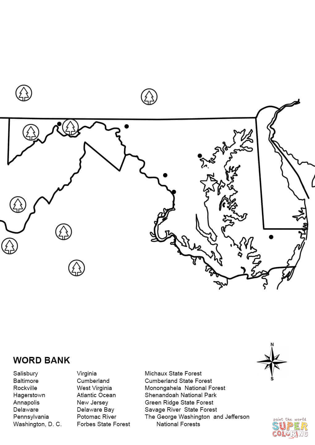 maryland coloring pages - photo#15