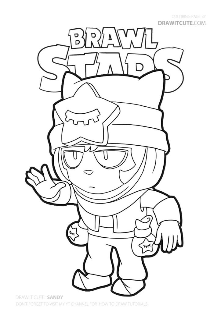 Sandy | Brawl Stars coloring page - Color for fun ...
