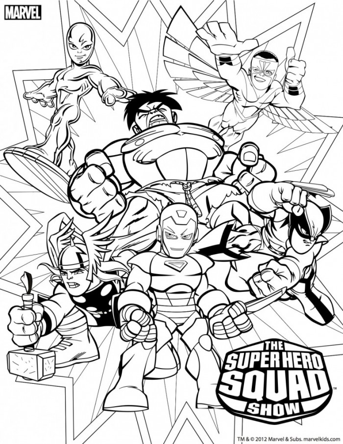Coloring Pages Super Hero Squad Google Twit Coloring Home