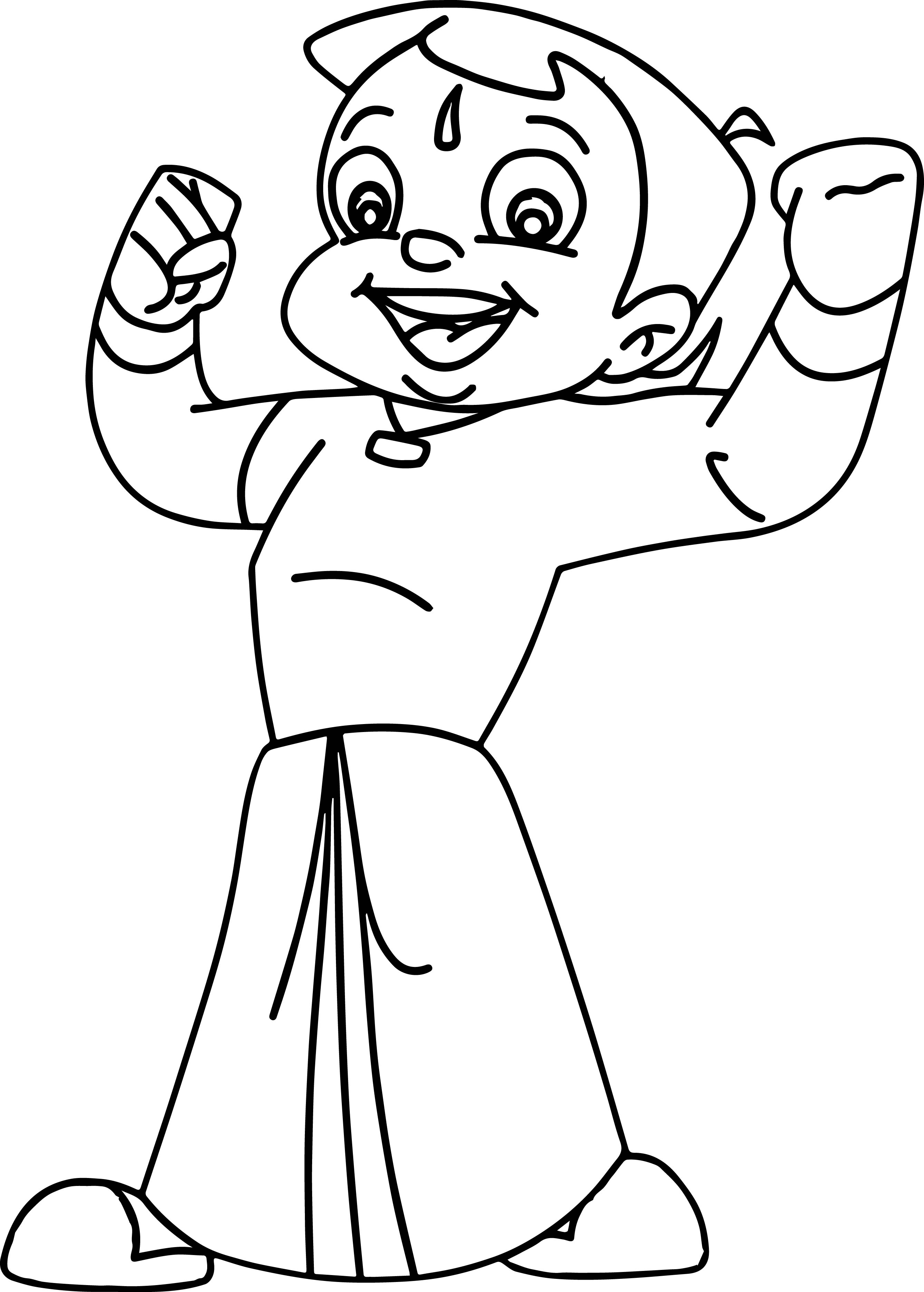 chota bheem team coloring pages - photo#2