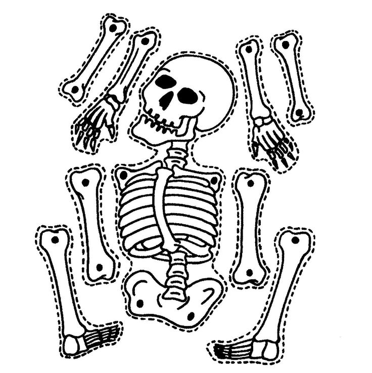 Printable Skeleton Craft Coloring Page Crafts And - Coloring Home