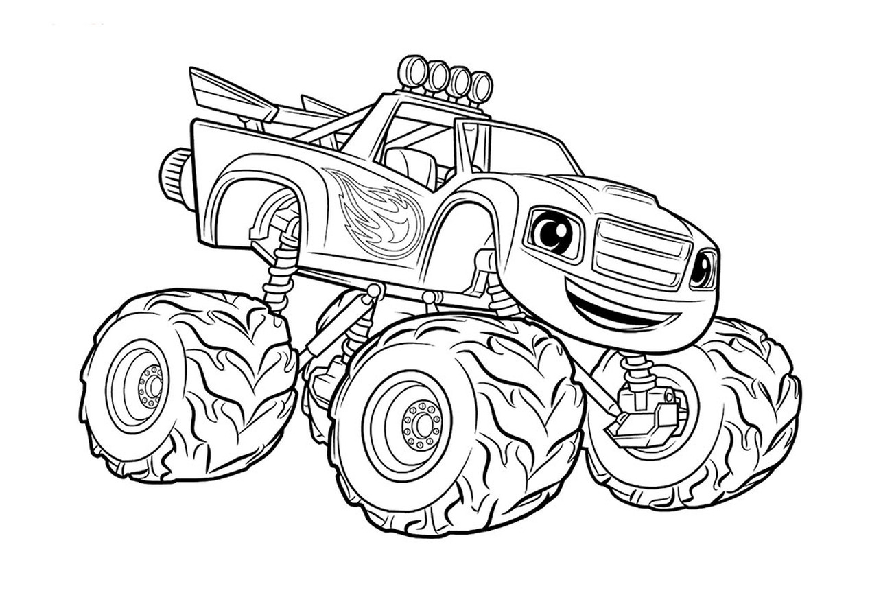 Coloring Book  Coloring Pages Book Of Monster Trucks ...