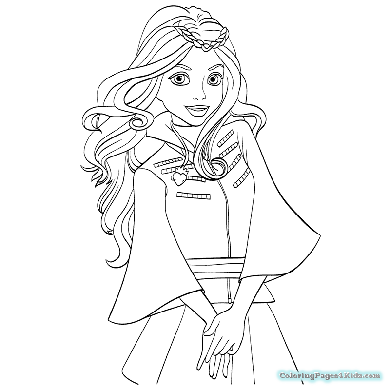 descendants-coloring-pages-16 - Coloring Pages For Kids