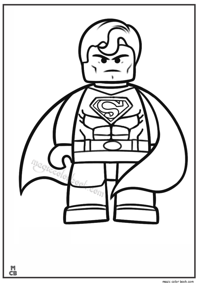 Lego Pictures To Color Coloring